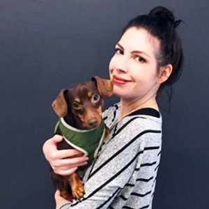 Lisa Bassi and dog